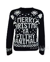 Mens Ladies Merry Christmas Ya Filthy Animal Novelty Retro