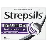 Strepsils Extra Strength Blackcurrant 36 per pack