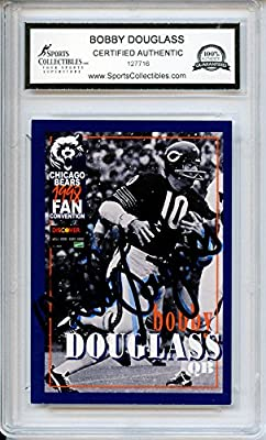 Bobby Douglass Autographed Chicago Bears Trading Card - Encapsulated & Certified Authentic