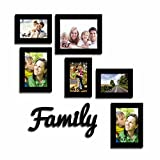 Art Street- Set of 6 Photo frames and Family MDF Plaque