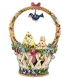 Jim Shore Heartwood Creek Basketful of Surprises Spring Basket Figurine Set