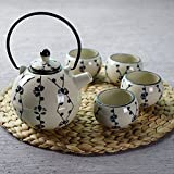 Xiduobao Tranditional Japanese Style Teapot Set Porcelain Kungfu Tea Set Chinese Celadon Gongfu Tea Set Green...