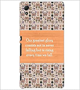 PrintDhaba Quote D-3689 Back Case Cover for SONY XPERIA Z4 (Multi-Coloured)