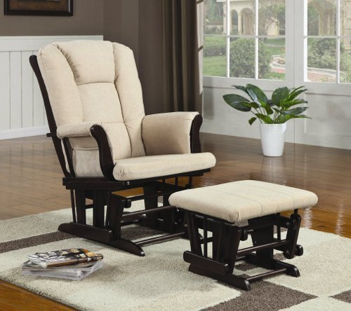 Coaster Home Furnishings 650011 Traditional Glider, Beige front-312920