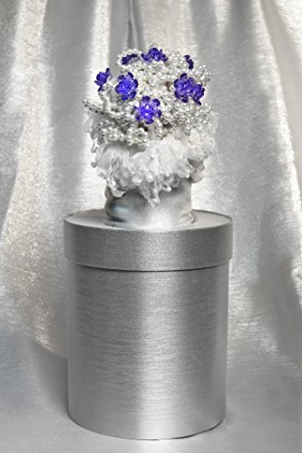 materashop.it - Bouquet per Sposa Perle Bianco 9 fiori Swarovski, Matrimonio,Gioiello