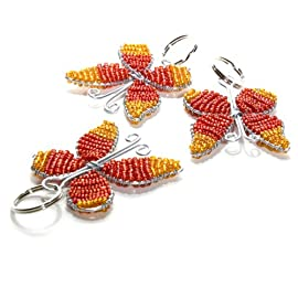 Beaded Butterfly Keychain - South Africa
