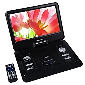 DBPOWER 13.3 Portable DVD Player,2 Hours Rechargeable Battery,Swivel Screen,Supports