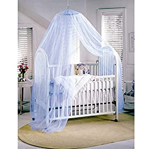 Sealike Cute Baby Mosquito Net Nursery Toddler Bed Crib Canopy Netting Hanging Ring with Stylus