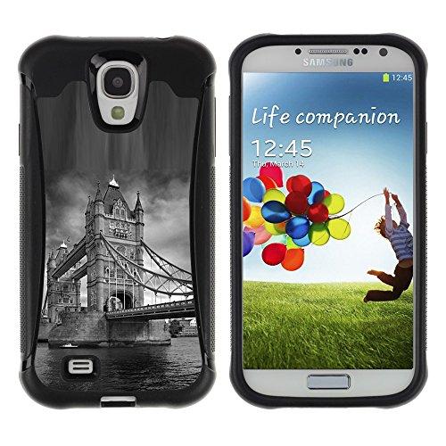 iArmor HYBRID Hülle Bumper Schutzhülle / Architecture London Bridge Black & White / Samsung Galaxy S4 I9500