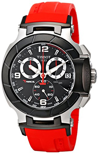Tissot Tissot Men's T0484172705701 T-Race Two-Tone Stainless Steel Watch with Red Rubber Band