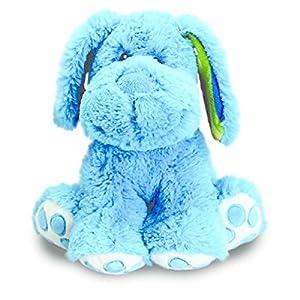 Keel Toys - Rainbow Floppy perro azul - 30cm Peluche de Keel Toys en BebeHogar.com