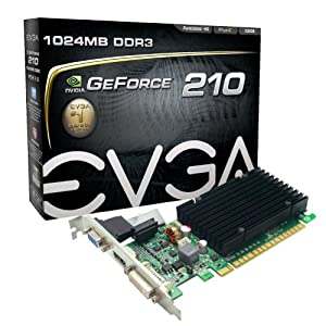 EVGA GeForce 210 Passive 1024 MB DDR3 PCI Express 2.0 DVI/HDMI/VGA Graphics Card, 01G-P3-1313-KR