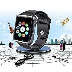LG LG6300 Compatible and Certified Bluetooth Smart Watch with SIM Card Slot And NFC Cell Phone Watch Phone Remote Camera ( Get Mobile Charging Cable worth Rs 239 FREE & 180 days Replacement Warranty )