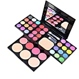ADS Cosmetic Make-Up 24-Color Eye Shadow Kit with Mirror & Brush