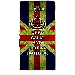 Skin4gadgets Keep Calm and PARTY HARDER - Colour - UK Flag Phone Skin for SONY XPERIA M2 (S50H)