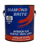 Diamond Brite Paint 11200 1-Gallon Flat Latex Paint Off White