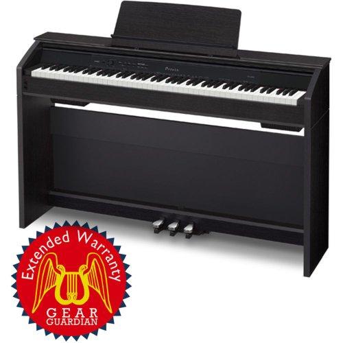 Casio Privia Px-850 88-Key Digital Piano With Gear Guardian Extended Warranty - Black
