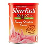 Slim-Fast Summer Strawberry Flavour Milkshake Powder - 12 Servings (438g)