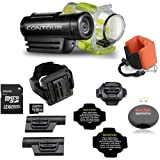 ContourRoam WATERPROOF Hands-free HD Camcorder + Contour Waterproof Case + LEXSpeed 8GB Class 10 Flash Memory Card + Bright Underwater Floating Foam Strap
