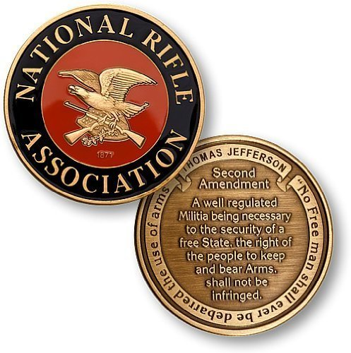 NRA Enamel - Second Amendment - Bronze Antique Enamel