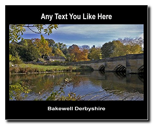 Derbyshire Inghilterra-Teglia da forno, misura media, in acrilico, da parete