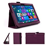 DURAGADGET Executive Purple Faux Leather Folio Case With Built In Stand Custom Designed For Microsoft Surface RT & The Microsoft Surface 10.6 Inch Tablet (With Windows RT, 32GB, 64GB, Type Cover Keyboard)