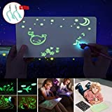 Magic LED Drawing Board Fun and Developing Toys for Kids, Draw with Light in Dark, Developing Writing Board Education Doodle Gifts (L:11.8 x 16.5 inch) (Tamaño: L:11.8 x 16.5 inch)