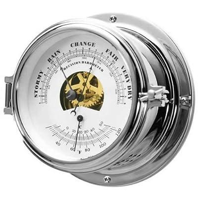 """Ambient Weather GL150-BT-C 6"""" Porthole Nautical Barometer Thermometer, Chrome from Ambient Weather"""