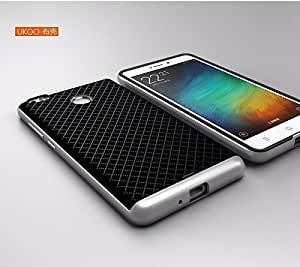 MHUB iPaky for Redmi 3S PRIME(SILVER)Brand Luxury High Quality Ultra-Thin Dotted Silicon Back + PC (Silver Frame) Bumper Back Case Cover