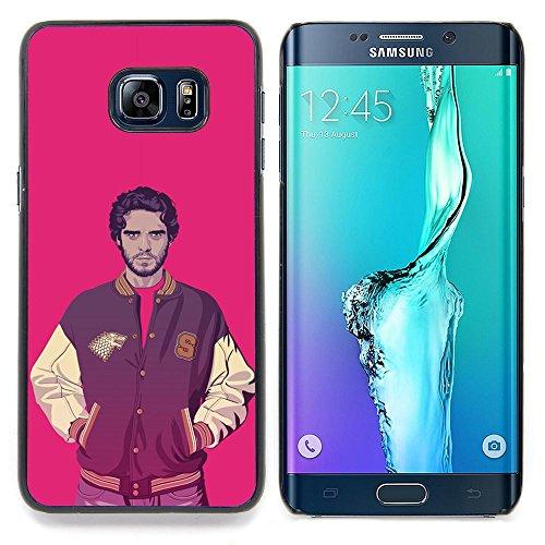 Eason Shop / Duro Slim Snap-On caso della copertura di Shell Custodia - Giacca sportiva Ganster Uomo Rosa Hot Guy moda - For Samsung Galaxy S6 Edge Plus / S6 Edge+ G928