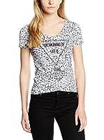 Guess Camiseta Manga Corta (Blanco / Gris)