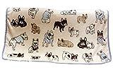 【Micopuella】 暖か かわいい わんちゃん 犬柄 ブランケット ひざ掛け 120cm×80cm 毛布 アニマル ペット 膝掛け 全3柄 ( フレンチブルドッグ )