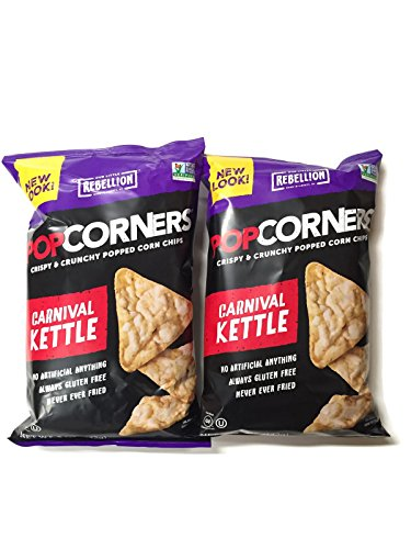 PopCorners Popped Corn Chips, 5 Oz. Bags (Set of 2) (Carnival Kettle) (Kettle Popcorners compare prices)