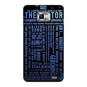 Gorgeous Blue Doc Angel Back Case Cover for Galaxy S2