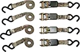 Python SI-2067 Ratchet Tie Down Straps with 900 lb Tension Strength, Mossy Oak Camo (4 Pack)
