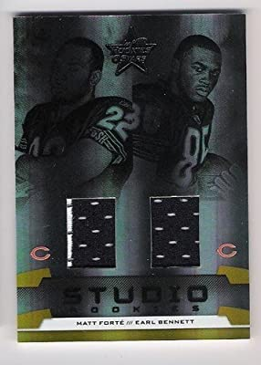 MATT FORTE EARL BENNETT 2008 Leaf Rookies & Stars Studio Combo DUAL JERSEY RC Rookie Card #109 of only 250 Made! Chicago Bears Football