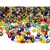 Rocailles Bunt Mix Silbereinzug 4 mm 20 Gramm ca. 300 Perlen