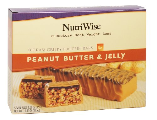NutriWise – Peanut Butter & Jelly Crunch Diet Protein Bars (7 bars)