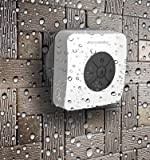 AquaAudio Cube - Mini Ultra Portable Waterproof Bluetooth Wireless Stereo Speakers with Suction Cup for Showers, Bathroom, Pool, Boat, Car, Beach, Outdoor etc. | For All Devices with Bluetooth Capability + Siri Compatible - 6 Hours Playtime / with Built-in Mic for use as a Powerful Handsfree Speakerphone (Black)
