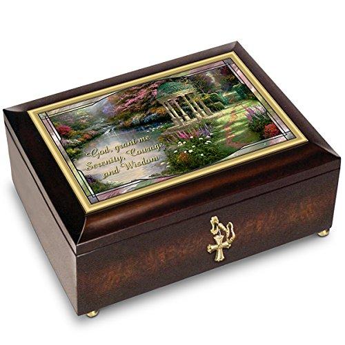 Thomas Kinkade Serenity Prayer Illuminated Music Box With Prayer Card By The Bradford Exchange