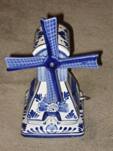 Amazon.com - Bosman Delft Blue Blauw Holland Porcelain Musical 7 inch