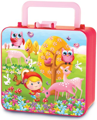 Piggy Story Rosy Red Double Decker Bento Box