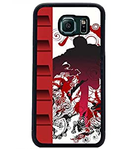 PrintDhaba Abstract Design D-3045 Back Case Cover for SAMSUNG GALAXY S6 EDGE (Multi-Coloured)