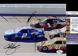 Kurt Busch +2 Signatures Nascar Signed Photo 8x10 Coa #j37092 - JSA Certified -... by Sports Memorabilia