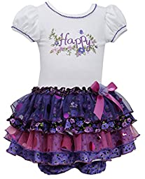 Bonnie Baby Baby Girls\' Happy Tier Dress, Purple, 18 Months