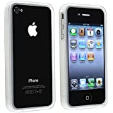 Generic Bumper Pure Crystal Soft Gel TPU Skin Case Cover for Apple iPhone 4/4G - Non-Retail Packaging - Clear