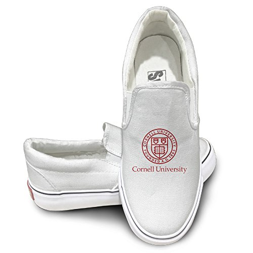 CYANY Cor Nell University Big Red Bear Unisex Footwall Canvas Shoes Sporting White