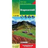 Freytag Berndt Wanderkarten, WK 364, Bregenzerwald, GPS, UTM - Maßstab 1:50 000: Bezau, Bregenzer Wald, Dornbirn