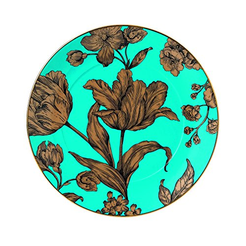 """Wedgwood Vibrance 9.2"""" Accent Plate, Turquoise"""