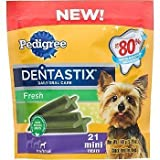 Pedigree Fresh Dentastix 21 Mini Treats Small/Toy Dogs, 5.26 oz (Pack of 2)